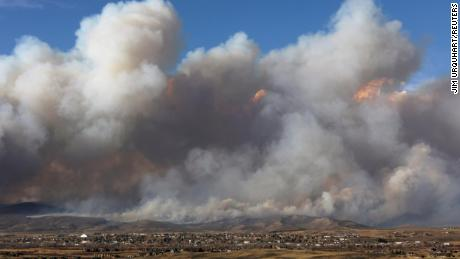 Photo of the East Troublesome Fire burning outside Granby, Colorado, on October 22, 2020. On Friday, the Grand County sheriff said they recovered the bodies of a couple who died in the fire.
