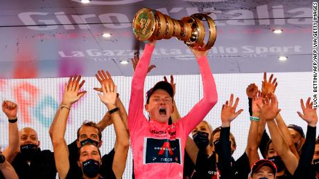 Britain's Geoghegan Hart rides to Giro d'Italia victory