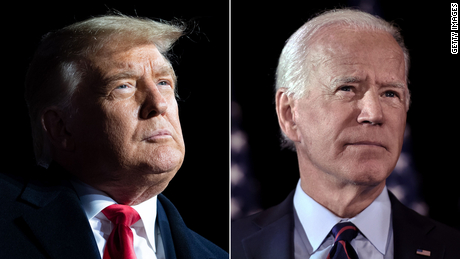 President Donald Trump and former Vice President Joe Biden are locked in a heated race in a highly polarized US.