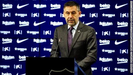 Bartomeu during a press conference.