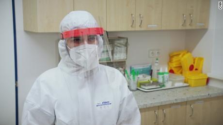 """Marie Hanackova, a nursing student, said people are """"afraid."""""""