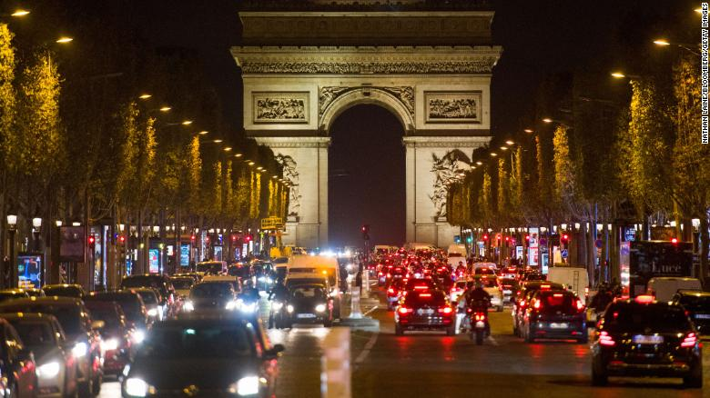 Vast traffic jams stretch in and out of Paris on eve of lockdown
