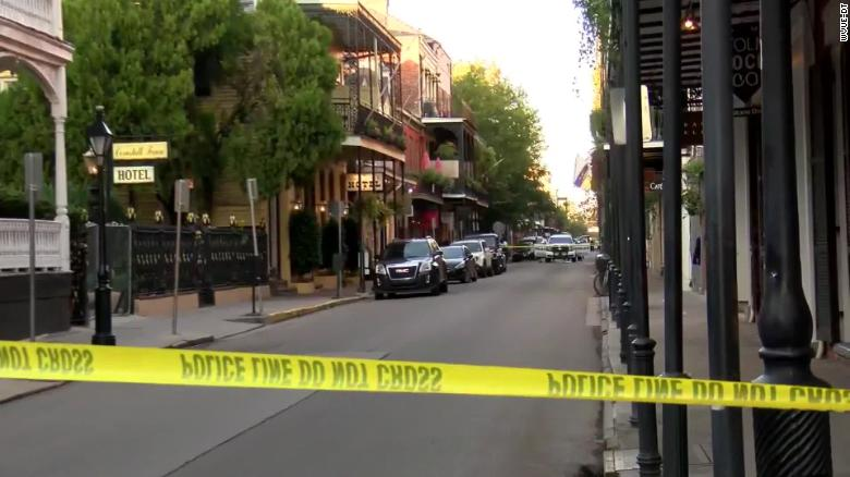 A New Orleans police officer on patrol in the French Quarter was shot in the face by a pedicab passenger, superintendent says