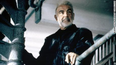 """Sean Connery is pictured in """"The Rock"""" in 1996."""