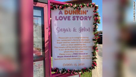 Dunkin' offered all customers a free donut to celebrate the wedding.