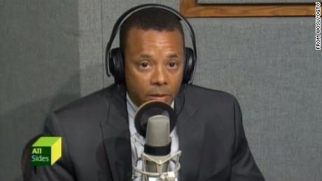 Officer Karl Shaw appears on a local Columbus radio show in August 2016.