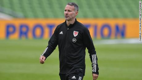 Giggs looks on after the UEFA Nations League group stage match against Republic of Ireland.