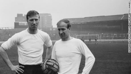 The Charlton brothers, Jack (left) and Bobby, were both part of England's victorious 1966 World Cup team.