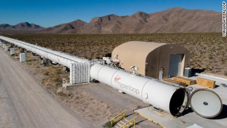 Virgin Hyperloop had its first human passengers at its test track in Las Vegas, Nevada.