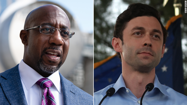 Democrats Ossoff and Warnock each raise more than $  100 million for Georgia Senate runoffs