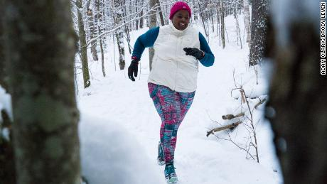 Endurance athlete Mirna Valerio says a good base layer is key to staying warm in fluctuating weather conditions.