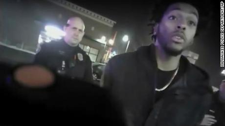 Police body-camera footage released by Milwaukee Police Department shows NBA Bucks guard Sterling Brown talking to arresting police officers after being shot by a stun gun in Milwaukee.