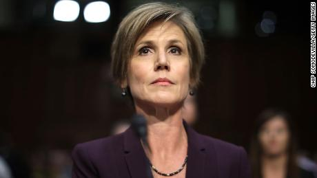 Former acting US Attorney General Sally Yates testifies before the Senate Judiciary Committee's Subcommittee on Crime and Terrorism on May 8, 2017, in Washington, DC.