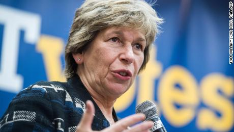 Randi Weingarten, president of the American Federation of Teachers, conducts a town hall on September 19, 2019, in Washington, DC.