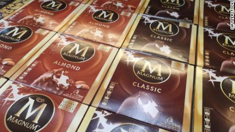 Magnum ice cream boxes in a hypermarket in Kuala Lumpur, Malaysia in June 2019.