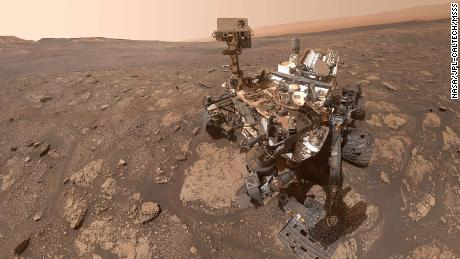 """NASA's Curiosity Mars rover took this selfie at a location nicknamed """"Mary Anning"""" after a 19th century English paleontologist."""