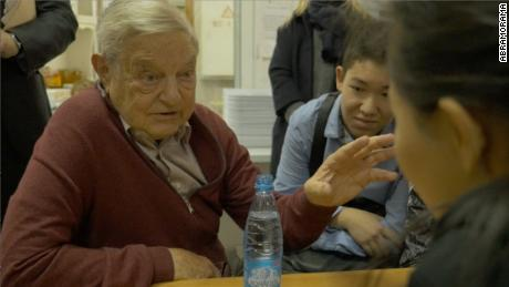 George Soros (left) in 'Soros.'