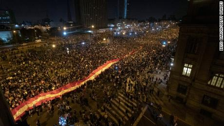Two protesters were killed in the protests.