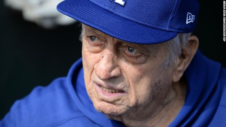 Legendary Los Angeles Dodgers manager Tommy Lasorda has been hospitalized