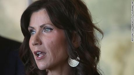 "South Dakota Gov. Kristi Noem has said ""government should not mandate"" wearing masks."