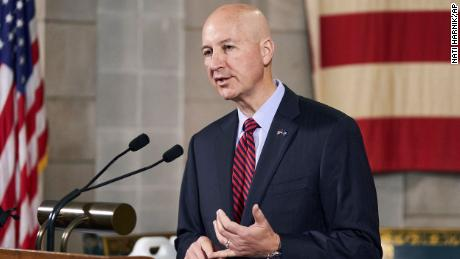 In this Sept. 30, 2020 file photo, Nebraska Gov. Pete Ricketts speaks during a news conference in Lincoln, Neb.