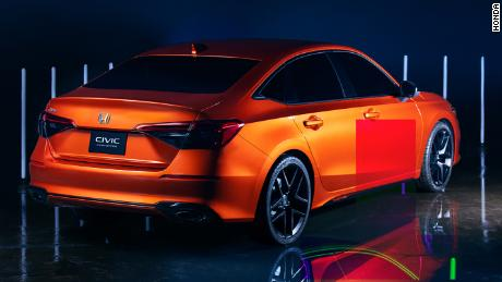 The new Honda Civic's taillights are designed to give an impression of more width