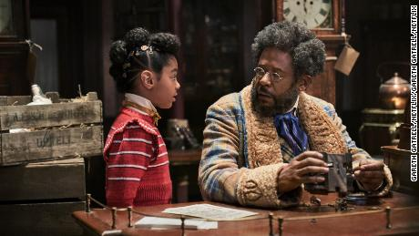 Madalen Mills and Forest Whitaker in 'Jingle Jangle: A Christmas Journey' (Gareth Gatrell/NETFLIX)