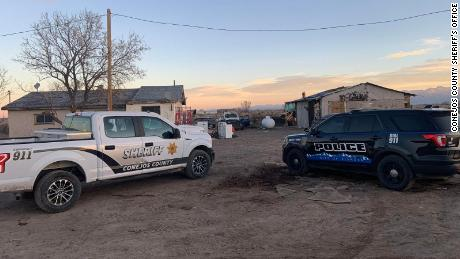 Police released images of one of the crime scenes in Conejos County