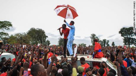 Ugandan politician and pop star Bobi Wine says he has been arrested