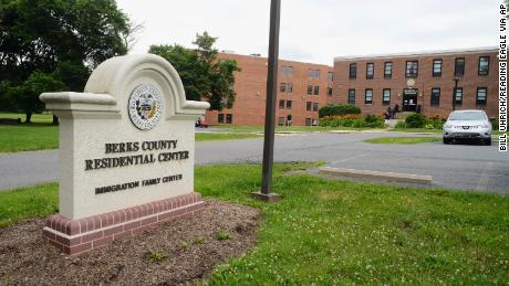 This file photo shows the Berks County Residential Center, where immigrant families are detained, in Leesport, Pensilvania.