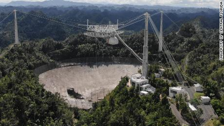 This image shows an overview of the damage to Arecibo Observatory's 305-meter telescope in November.