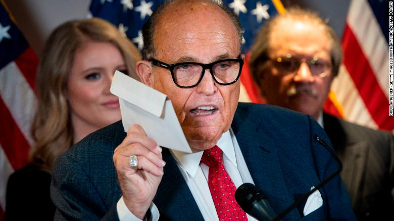 Rudy Giuliani voted with an affidavit ballot, which he bashed in failed effort to overturn election