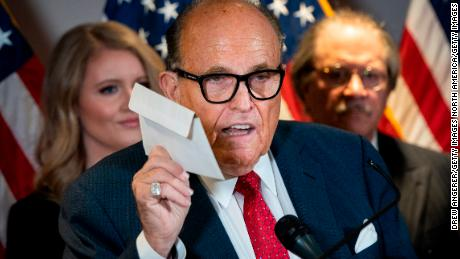 Giuliani spouts baseless claims at press conference