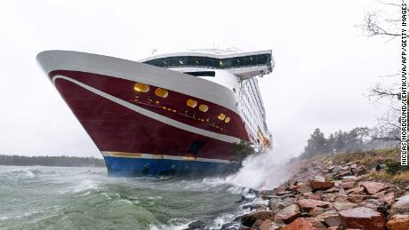 Passengers aboard the MS Viking Grace have been told they'll be rescued Sunday