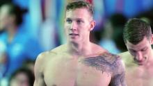 Dressel during the men's 4x100m Medley Relay Final.