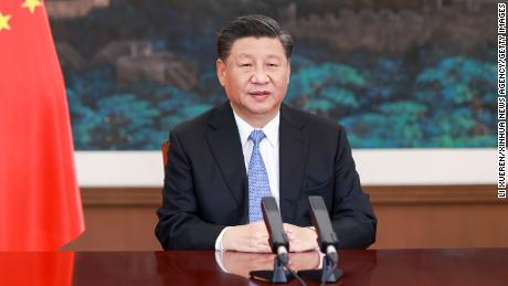 Chinese President Xi Jinping delivers a speech via video link to the Leaders' Side Event on Safeguarding the Planet at the G20 Riyadh Summit on November 20.