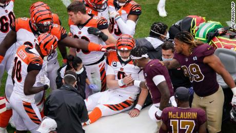 Players from both the Bengals and Washington comforted Joe Burrow after his horror injury.