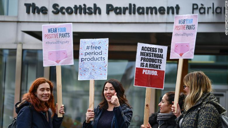 Scotland becomes first country to make tampons and pads available for free