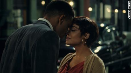 "Nnamdi Asomugha (left) and Tessa Thompson (right) star in ""Sylvie's Love."""