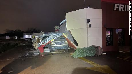 A witness told CBSDFW that the collapsed happened suddenly as it was raining.