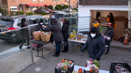 Agatha House volunteers give out fresh produce to those in need in the Bronx.