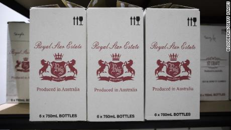 China slaps tariffs of up to 212% on Australian wine imports