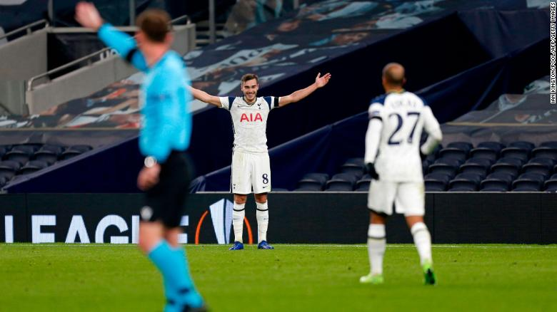 Harry Winks scores wonder goal for Tottenham in the Europa League