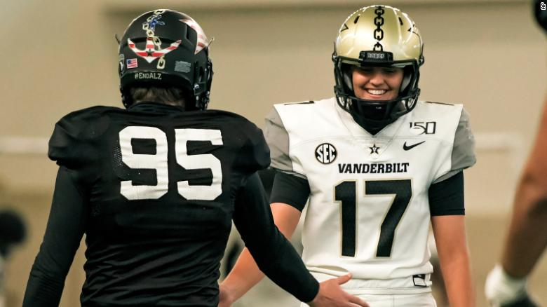 Vanderbilt's Sarah Fuller may become the first woman to play in a Power 5 conference college football game on Saturday