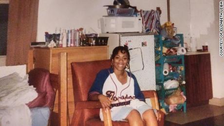 Elizabeth Leiba in her dorm room at the University of Florida.