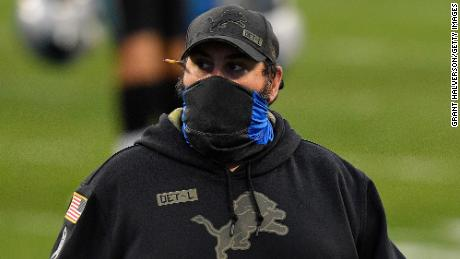 Matt Patricia after the Lions lost 20-0 to the Carolina Panthers on November 22 in Charlotte, Carolina del Norte.
