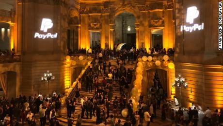 Life pre-Covid: PayPal's 2017 San Jose site holiday party at San Francisco's City Hall