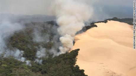 A bushfire spreads through Australia's Fraser Island.