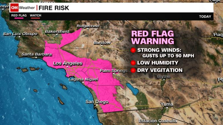 Power goes out as fire danger looms in Southern California