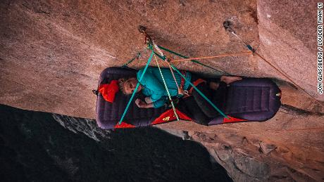 The 34-year-old says she reguarly feels fear when climbing.